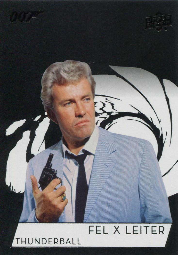 James Bond Collection SP Base Card #118 Rik Van Nutter as Felix Leiter
