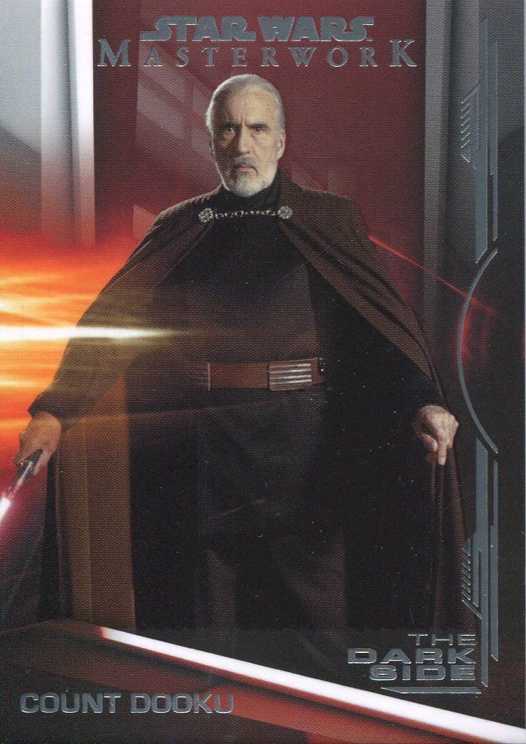 Star Wars Masterwork 2019 The Dark Side Chase Card DS-4 Count Dooku