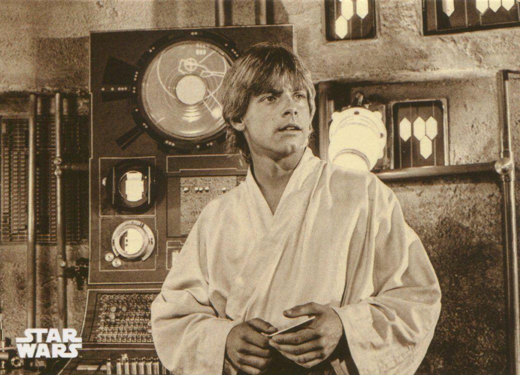 Star Wars RotJ Black /& White Blue Base Card #120 Searching for Skywalker