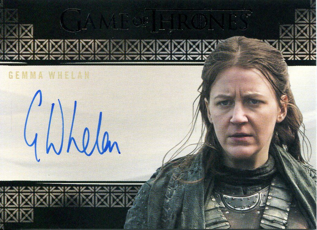 Yara Greyjoy Gemma Whelan Game of Thrones 3 Autograph Trading Card Auto