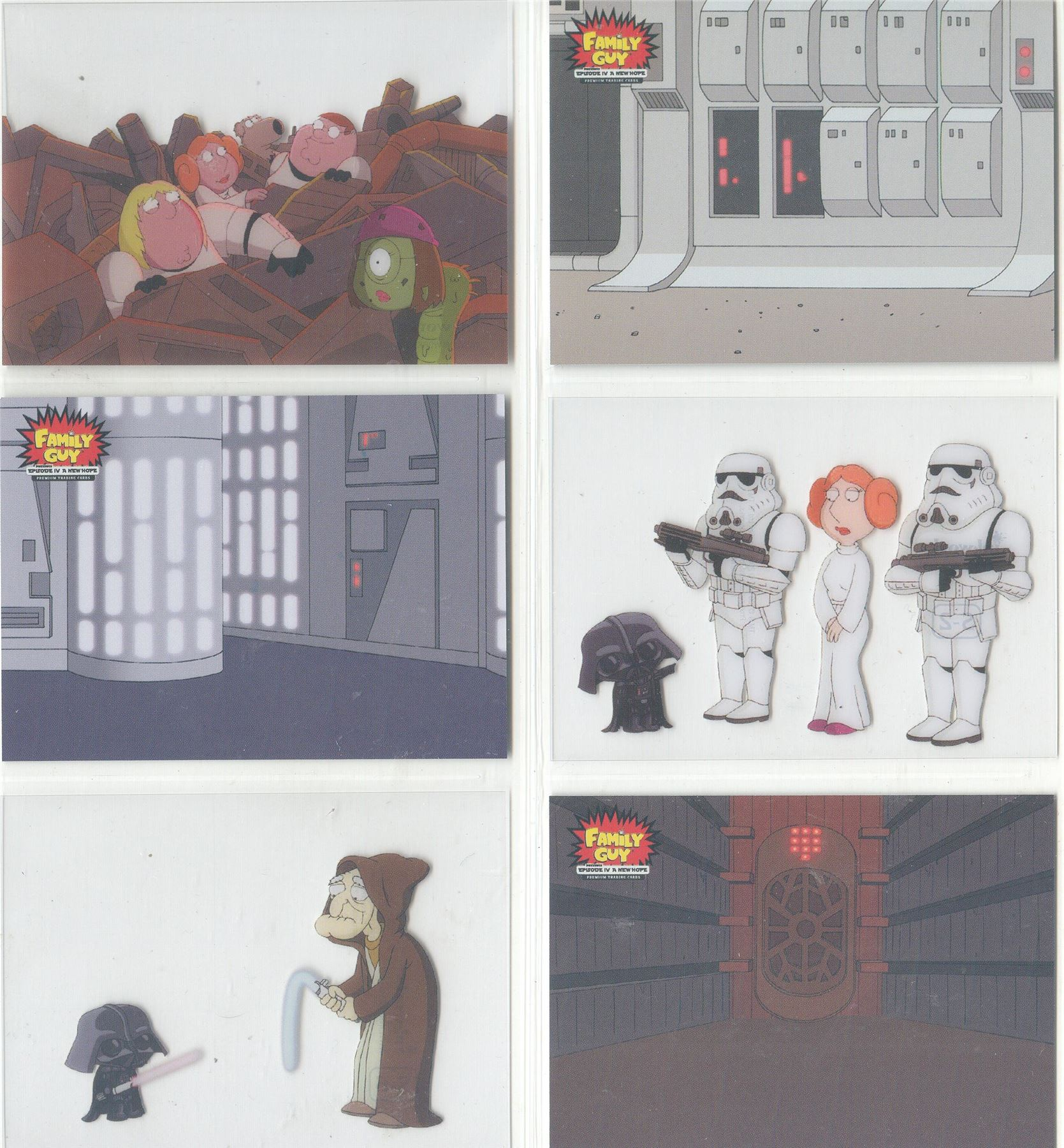 Family Guy Star Wars ANH Scenes From Space Chase Card S-5