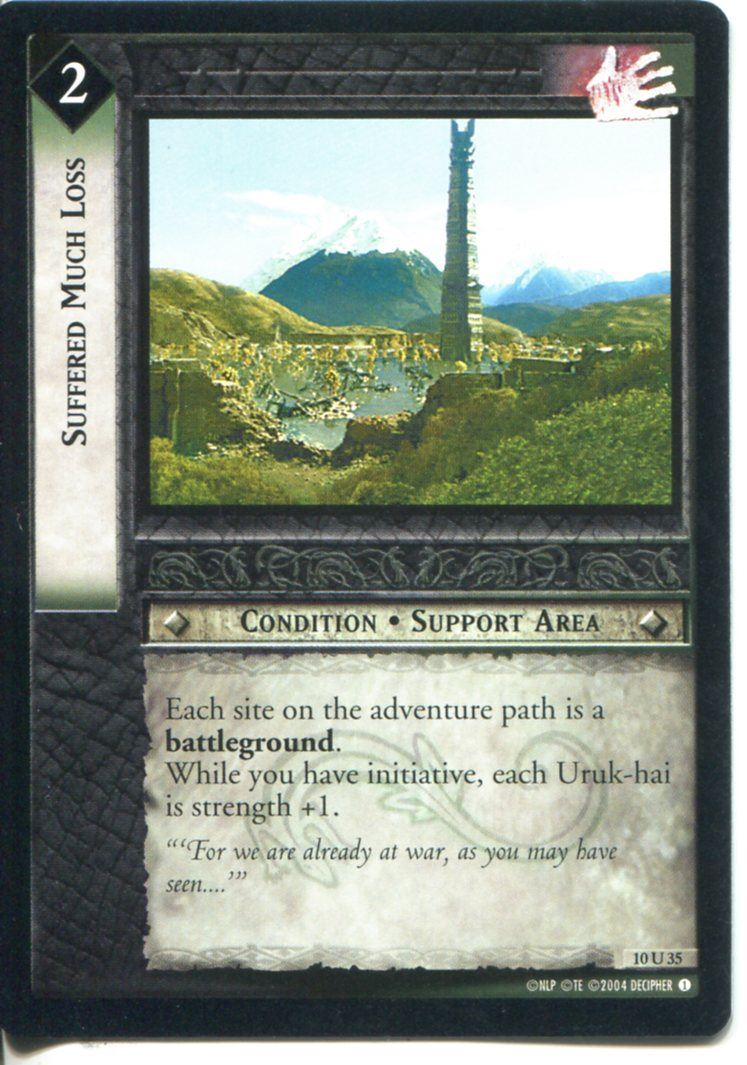 Lord Of The Rings CCG Card MD 10.U35 Suffered Much Loss
