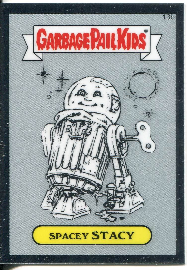 Garbage Pail Kids Chrome Series 1 Refractor Base Card 13b SPACEY STACY