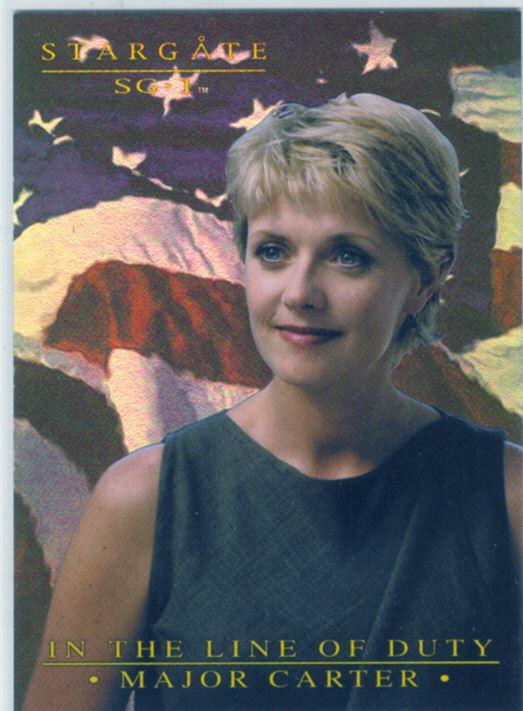 Stargate SG1 Season 6 Major Carter In The Line Of Duty Chase Card MC3