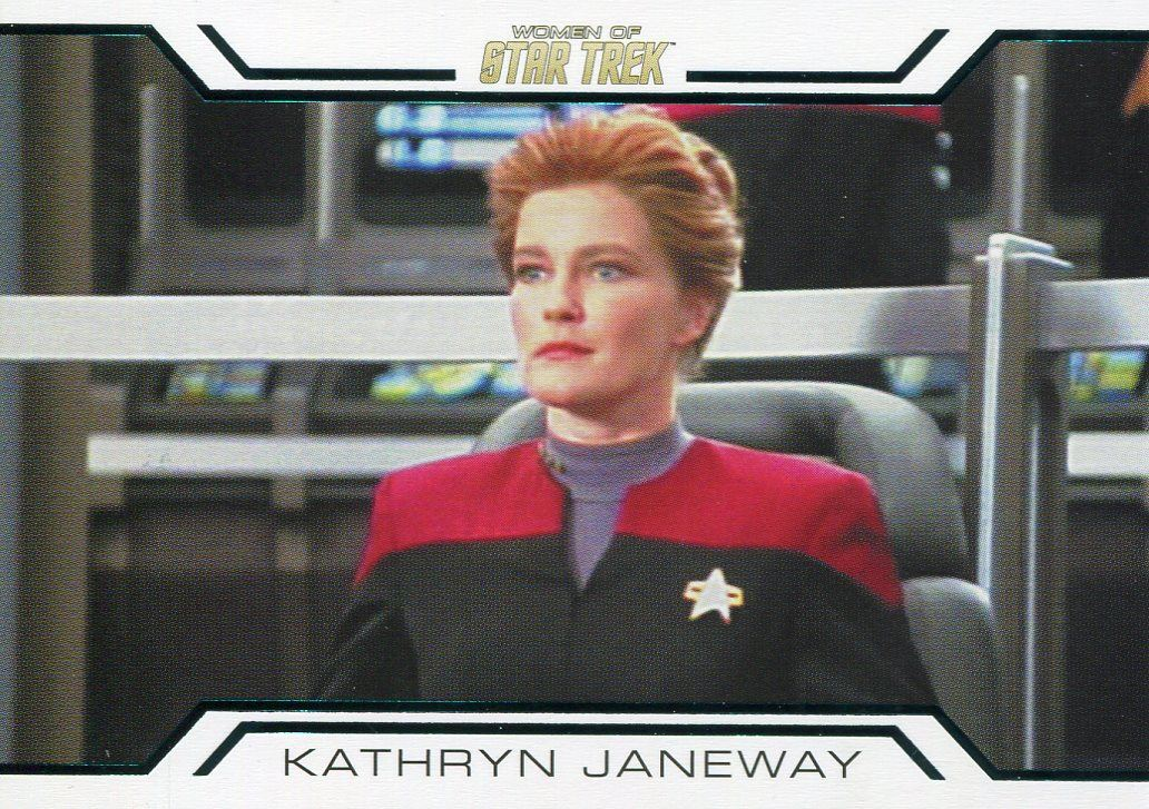 Star Trek Women Of 50th Anniversary Women In Command Chase Card WC6 K Janeway