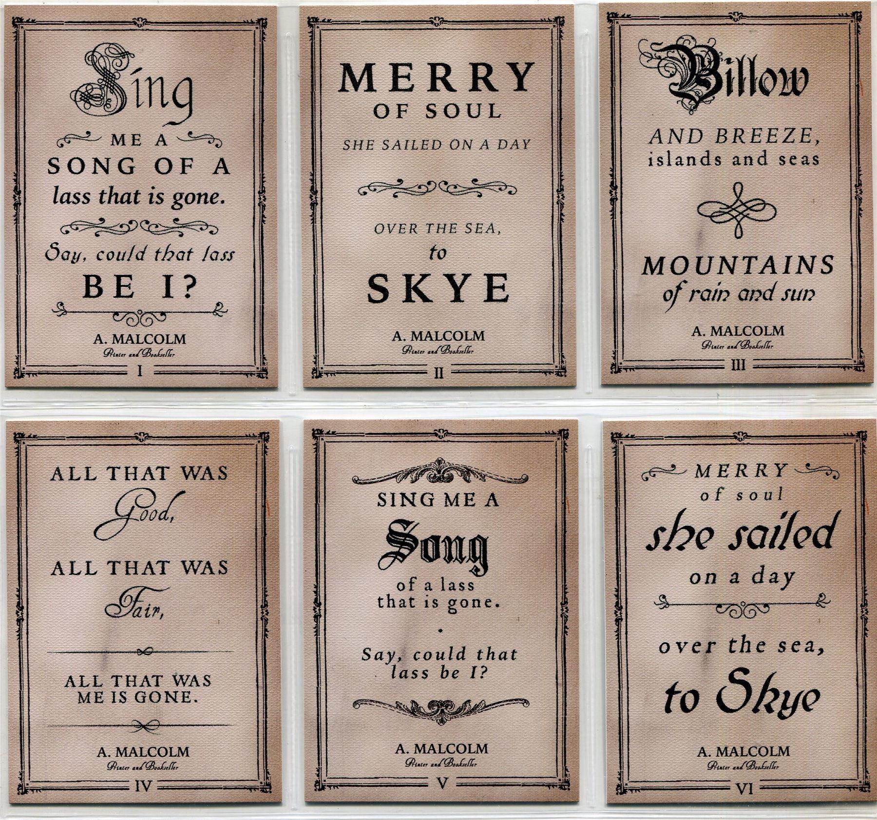 Outlander Season 3 Canvas Skye Boat Song Chase Card Q2 II