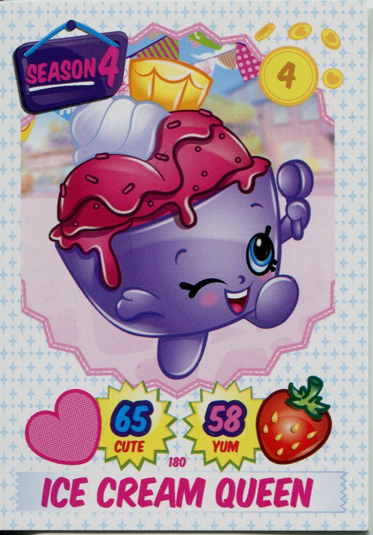 Topps Shopkins Series 1-4 Trading Cards Limited Edition Chase Card Ruby Earring