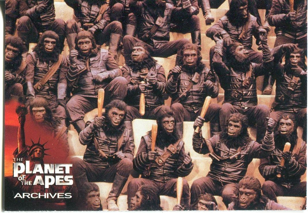 PLANET OF THE APES MOVIE PROMOTIONAL CARD 2 OF 4