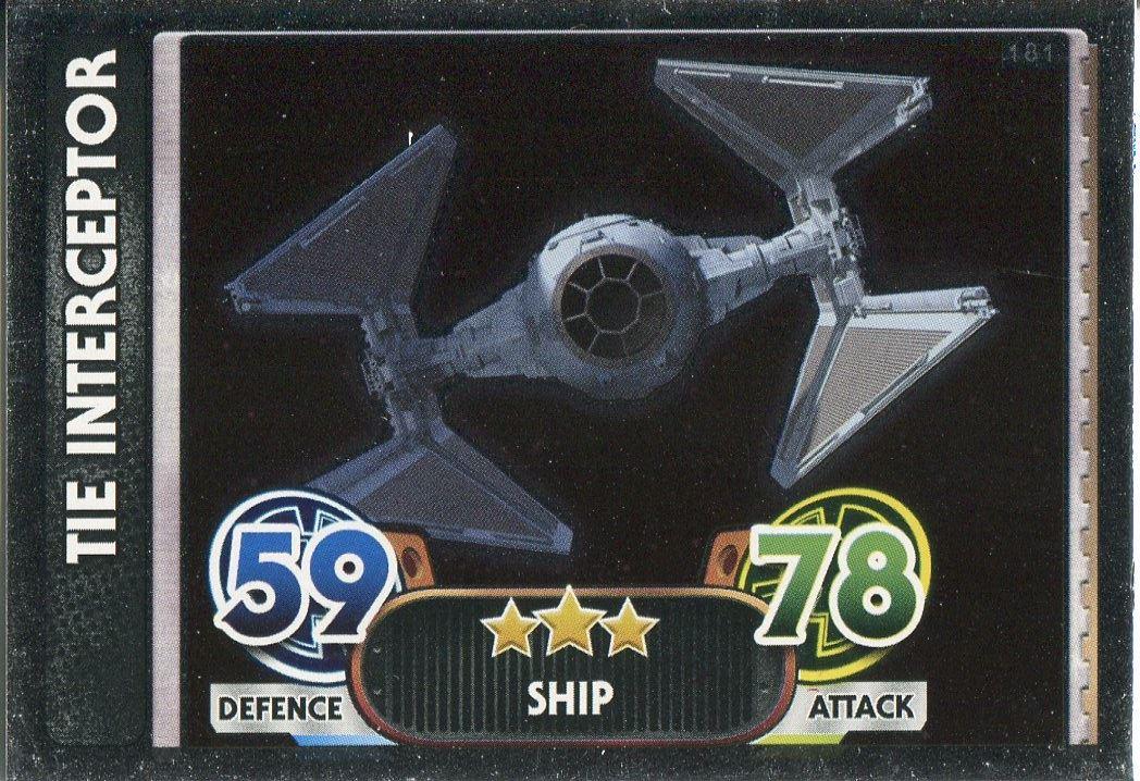 Star Wars Force Attax Force Awakens Set 1 #92 Darth Vader/'s Tie Advanced
