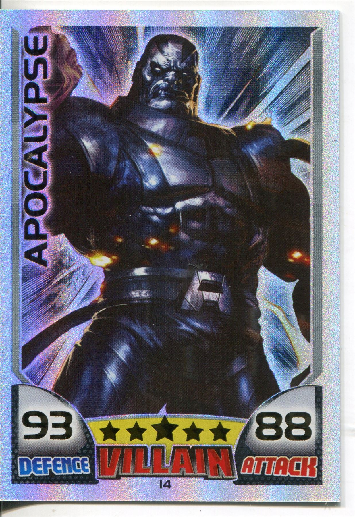 Details about Marvel Hero Attax Series 1 Rainbow Foil Base Card #14  Apocalypse
