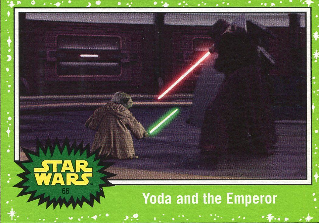 Star Wars JTTROS Black Parallel Base Card #66 Yoda and the Emperor 199