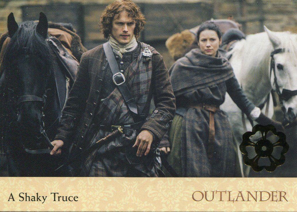 Outlander Season 2 Gold Jacobite Seal Base Card #48 Memories of War
