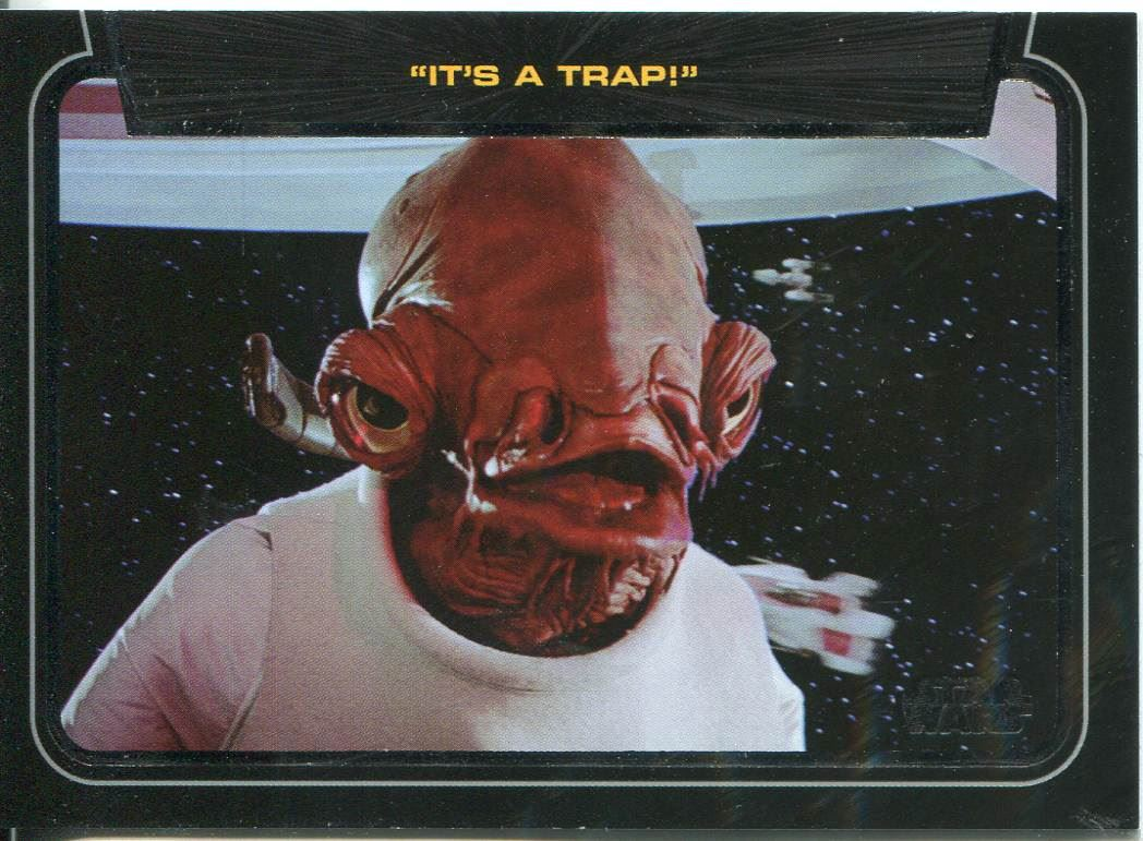 Star Wars Galactic Files Series 1 Base Card #167 Admiral Ackbar
