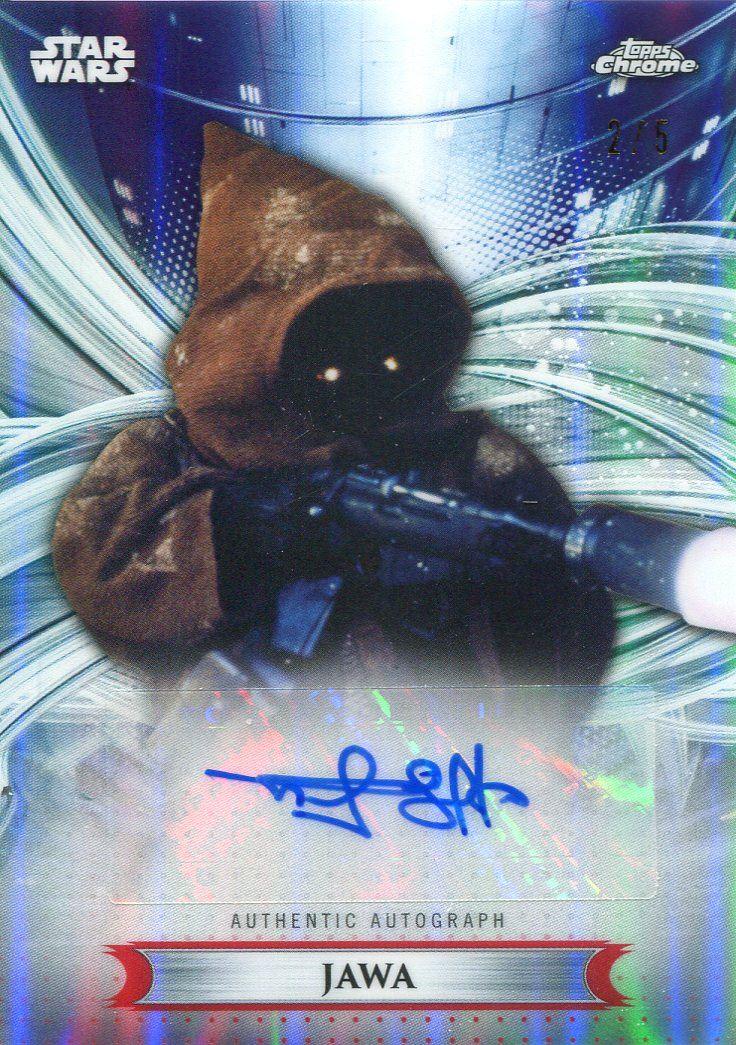 Star Wars Topps Chrome Legacy Card //199 Autograph Jawa