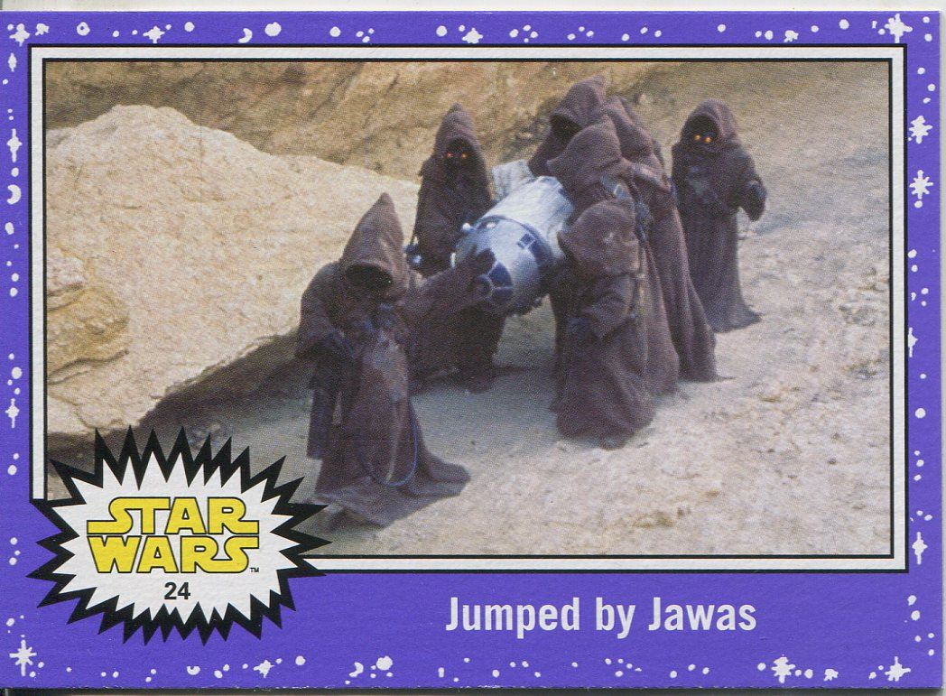 Star Wars JTTFA Black Parallel Base Card #24 Jumped by Jawas