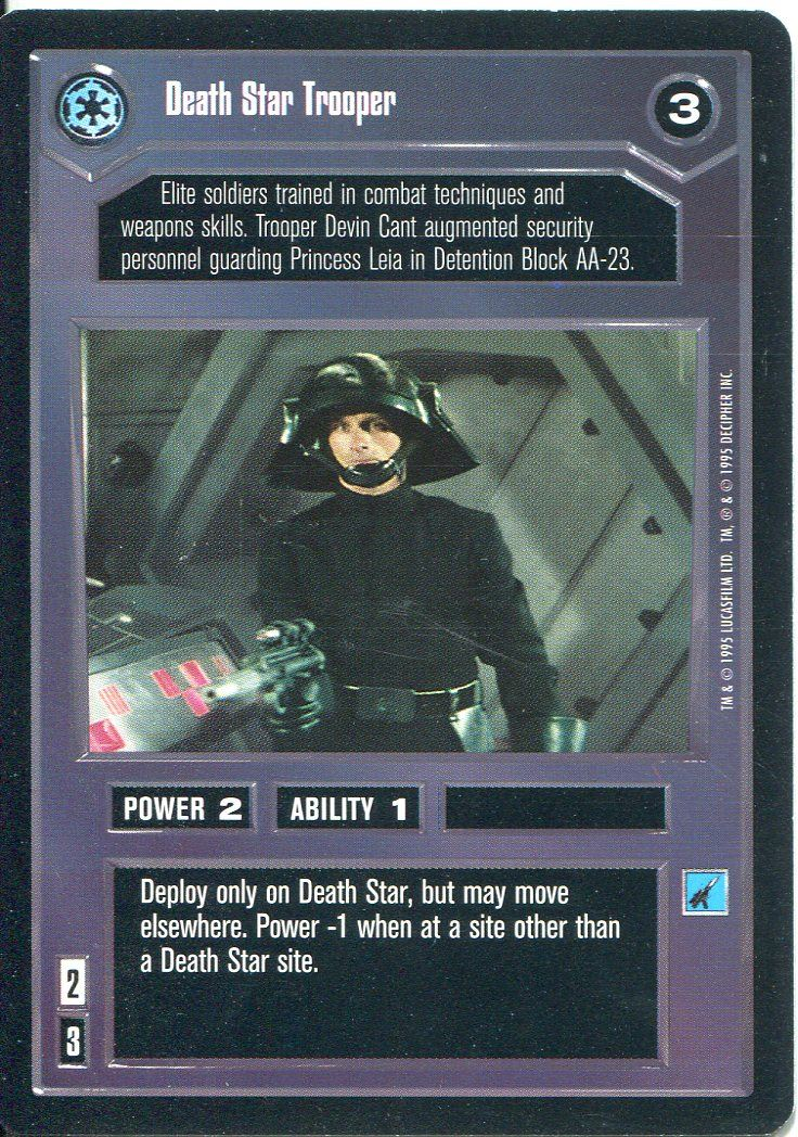 Star Wars CCG Premiere Black Border Gift Of The Mentor