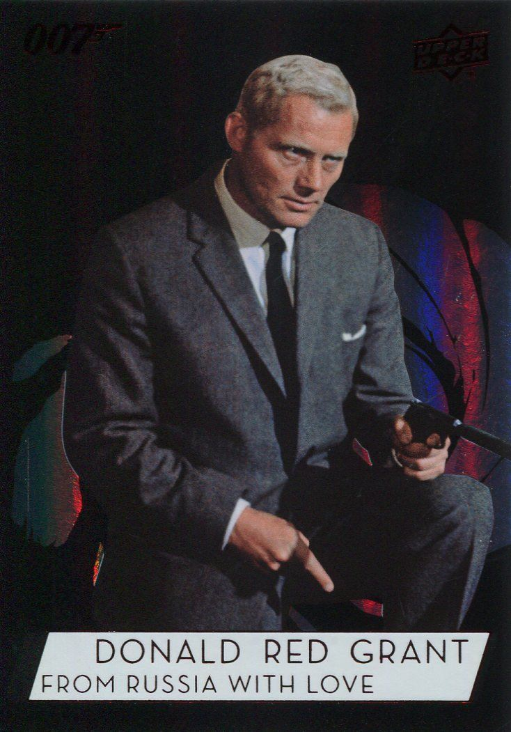 "James Bond Collection SP Base Card #106 Robert Shaw as Donald /""Red/"" Grant"