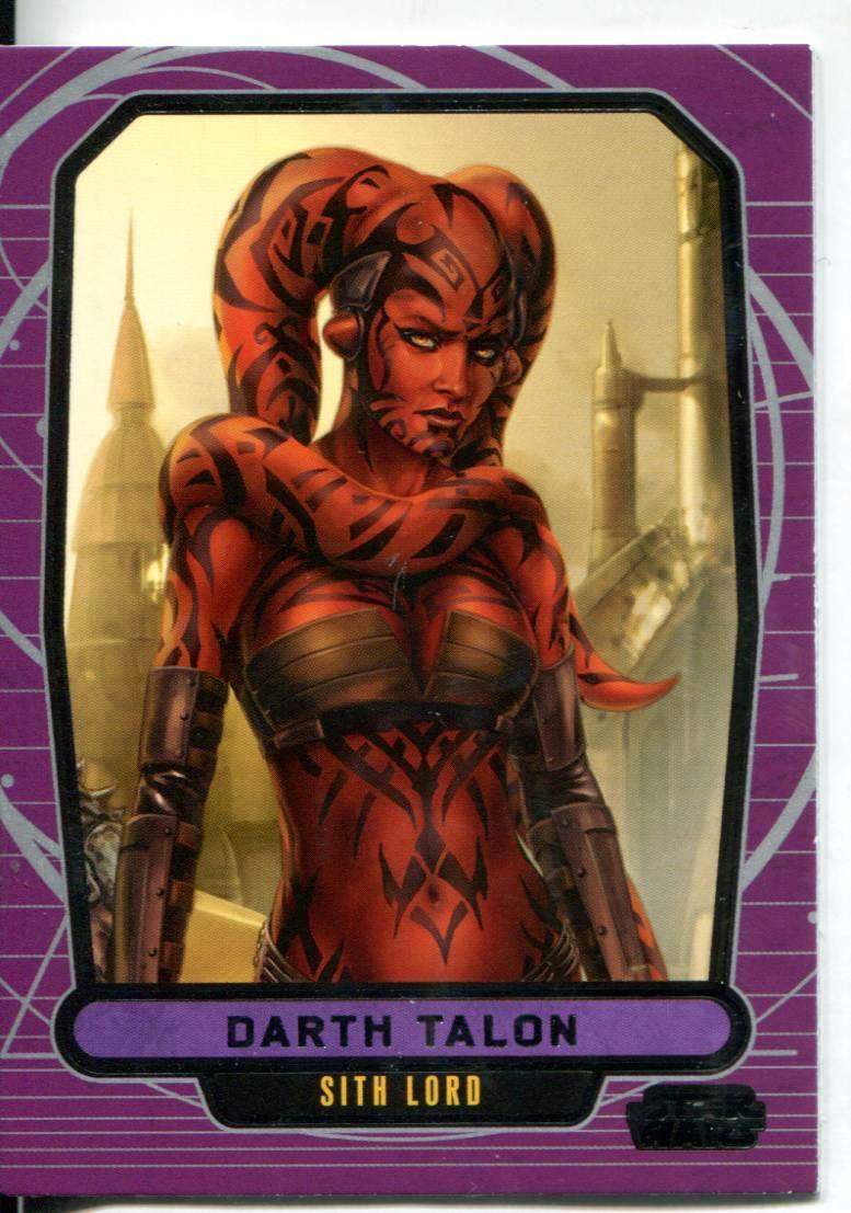 Star Wars Galactic Files Series 1 Base Card #6 Darth Maul