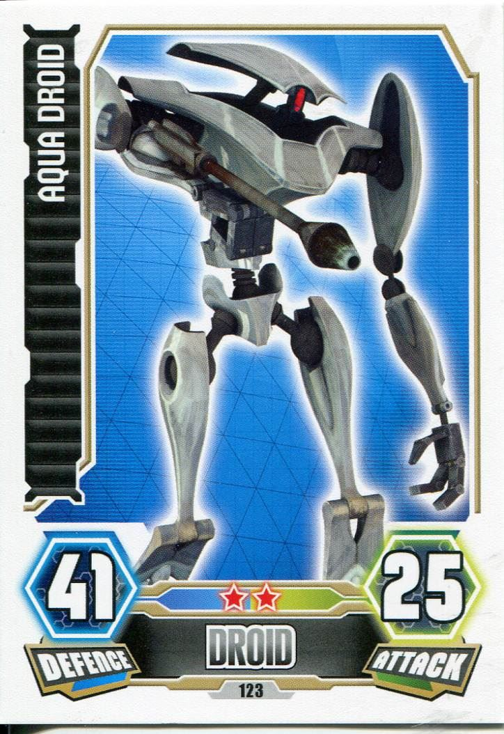 Aqua Droid #123 Force Attax série 3