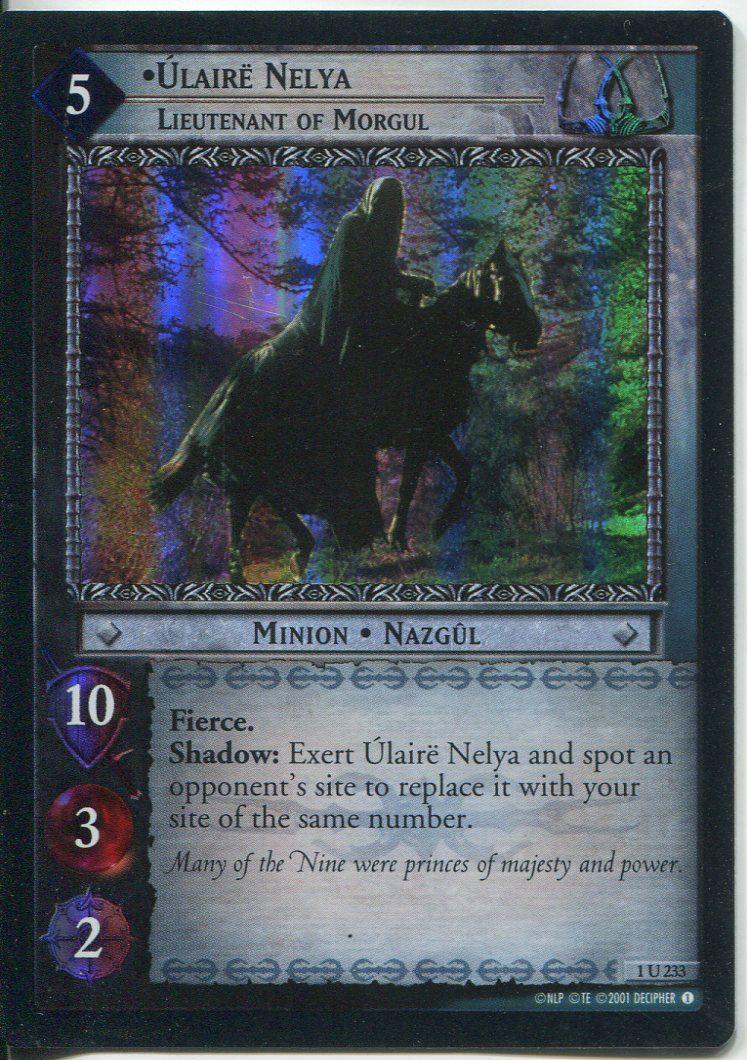 Lord Of The Rings CCG FotR Card 1.U235 Ulaire Otsea Lieutenant Of Morgul