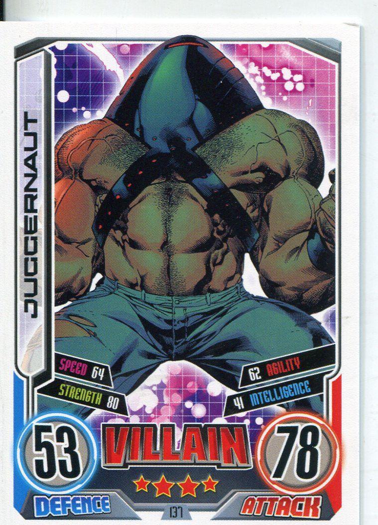 Marvel Hero Attax Series 2 Foil Base Card #39 Juggernaut