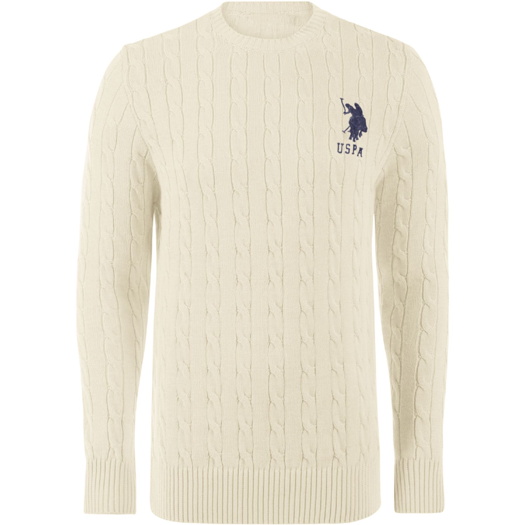 NEW-MENS-LONG-SLEEVE-CABLE-HEAVY-KNITTED-JUMPER-SWEATER-CREW-NECK-WARM-WINTER