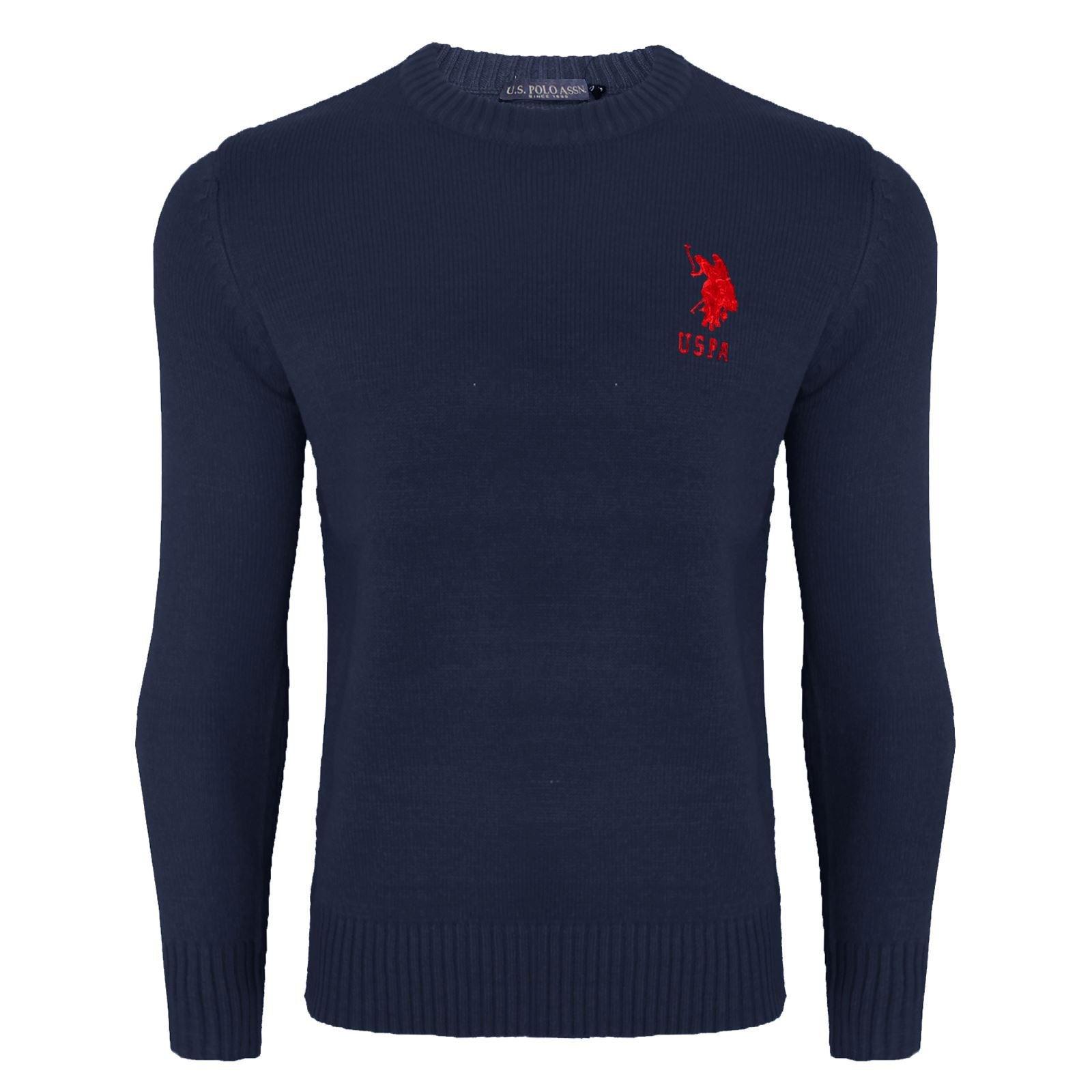 mens us polo assn cable knit sweater jumper long sleeve. Black Bedroom Furniture Sets. Home Design Ideas