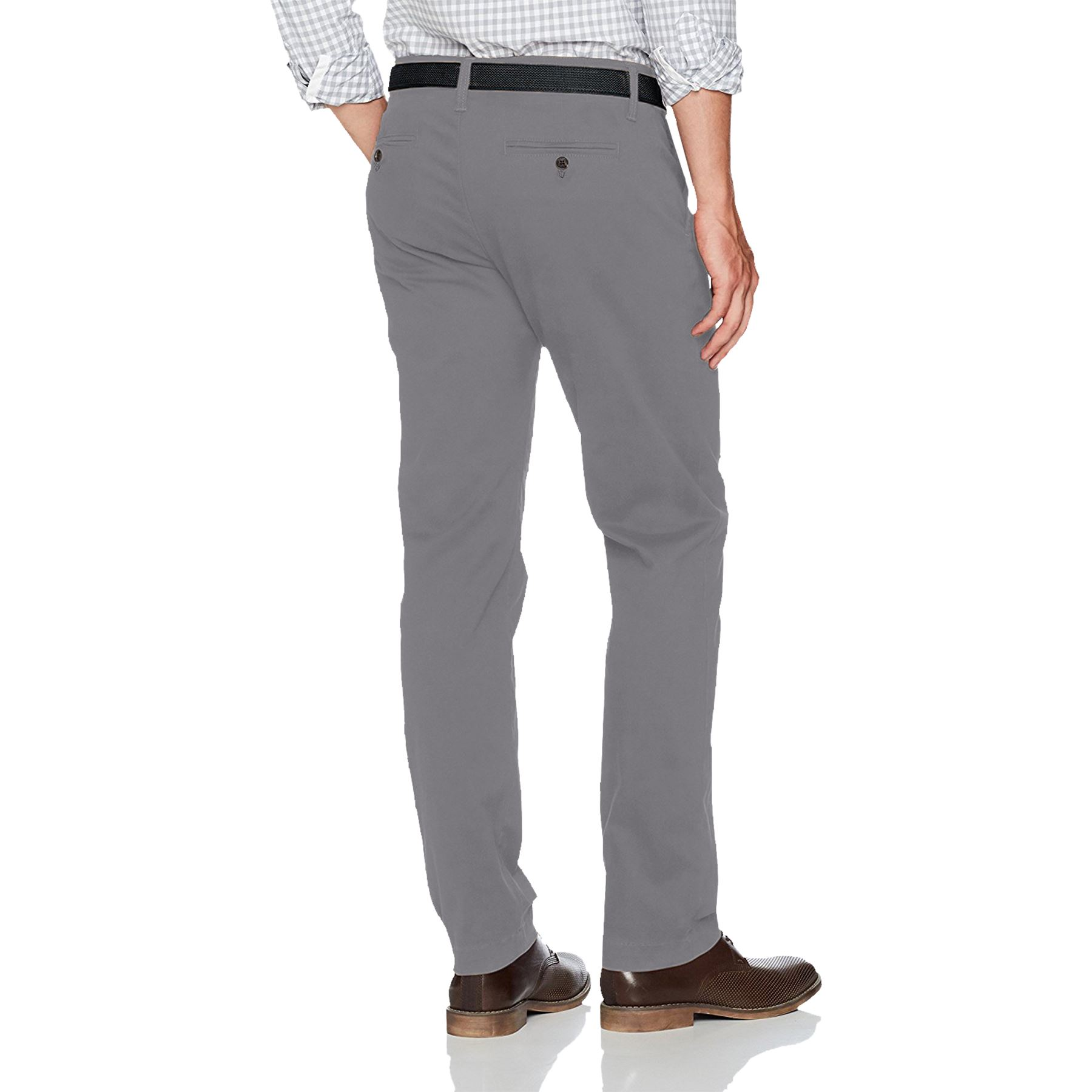 New-Mens-Ex-Store-Chino-Trousers-Regular-Fit-Straight-Cotton-Casual-Work-Pants thumbnail 7