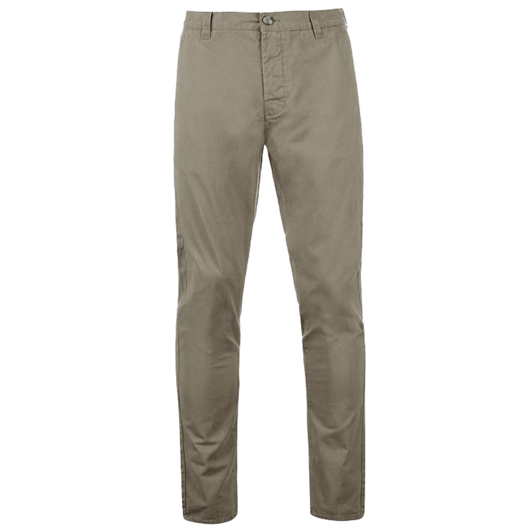 Da-Uomo-Kangol-Pantaloni-chino-regular-fit-straight-leg-in-cotone-Casual-Jeans-Pantaloni