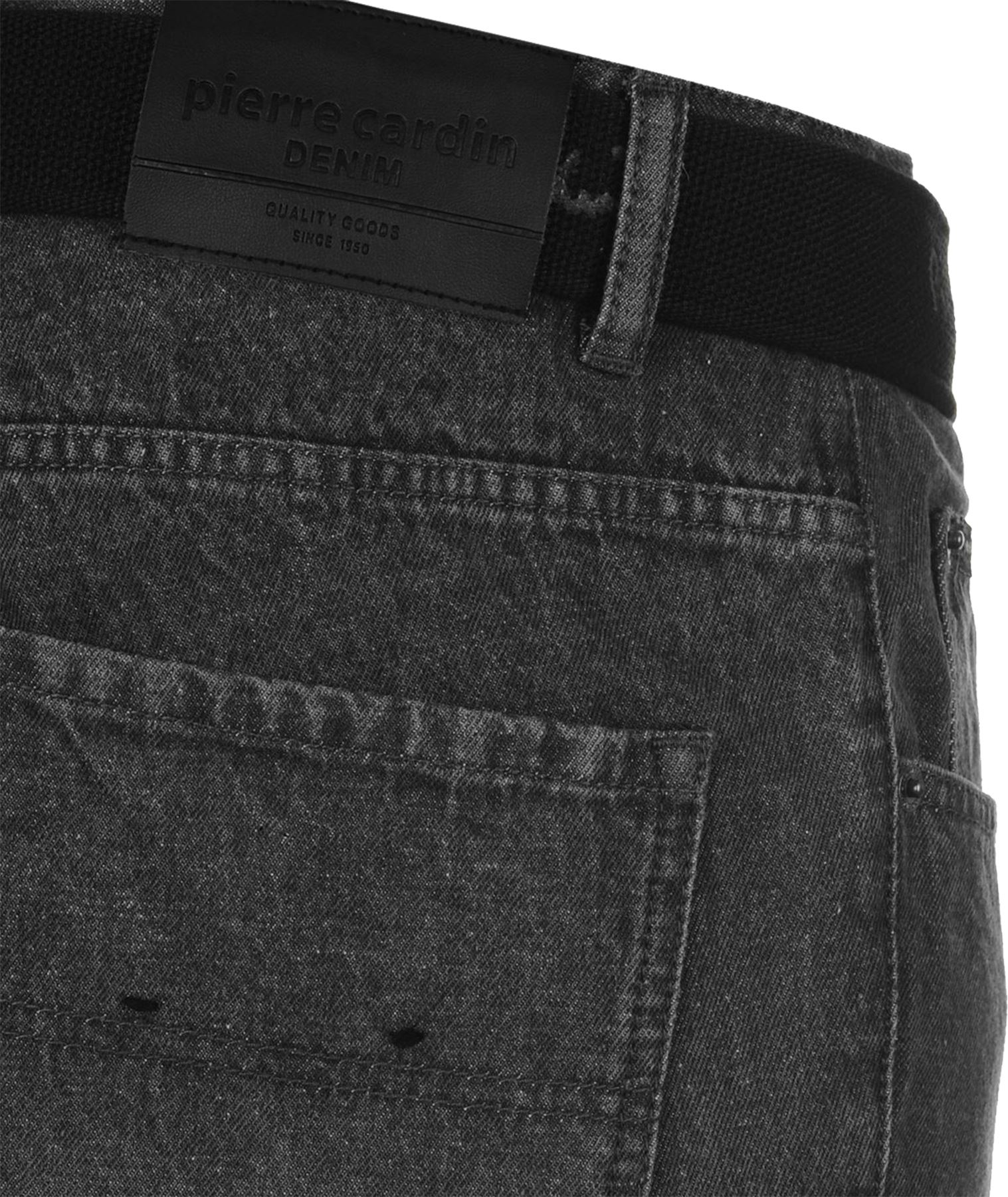 Mens-Belted-Denim-Jeans-Straight-Leg-Regular-Fit-Pierre-Cardin-Pants-Big-Tall thumbnail 9