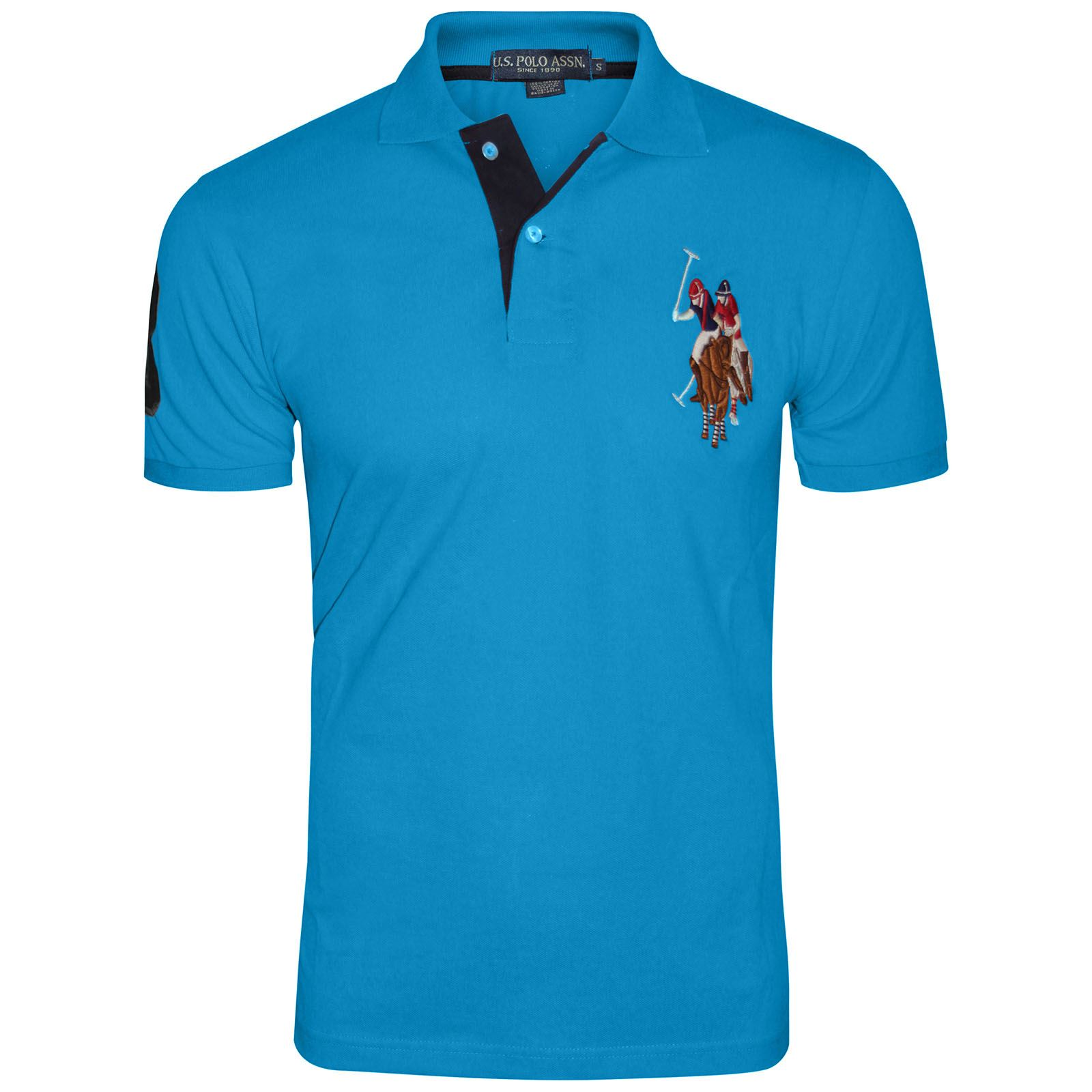 Mens Us Polo Assn Short Sleeve Big Pony Contrast Lauren