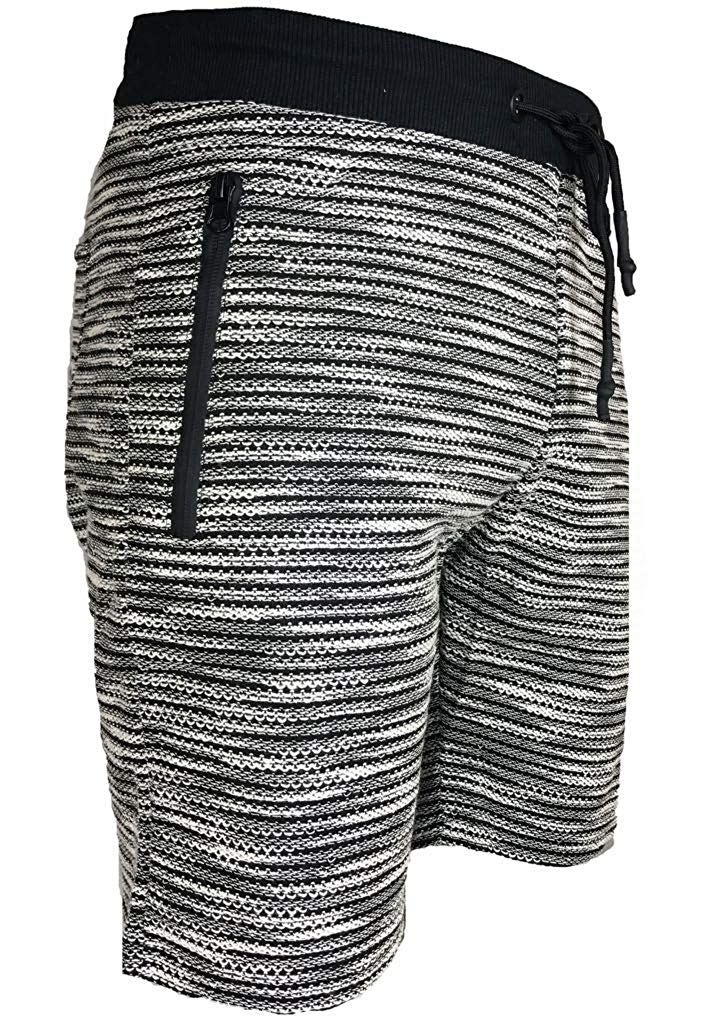 Mens-Summer-Casual-Fleece-Shorts-Zip-Pockets-Sweat-Gym-Jogging-Running-Pants thumbnail 5