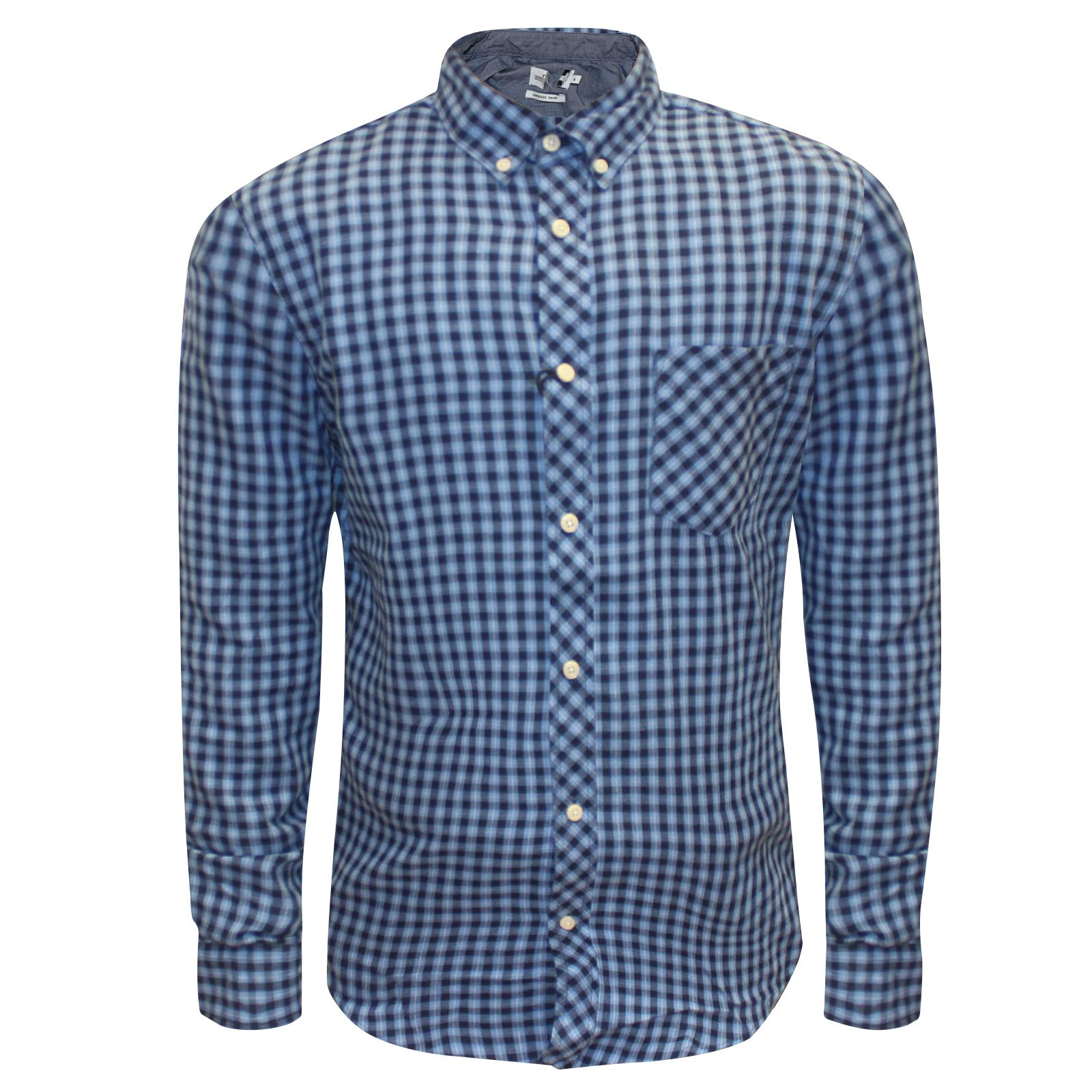 MENS Branded LONG SLEEVE SUMMER CHECK PRINT SMART COTTON ...
