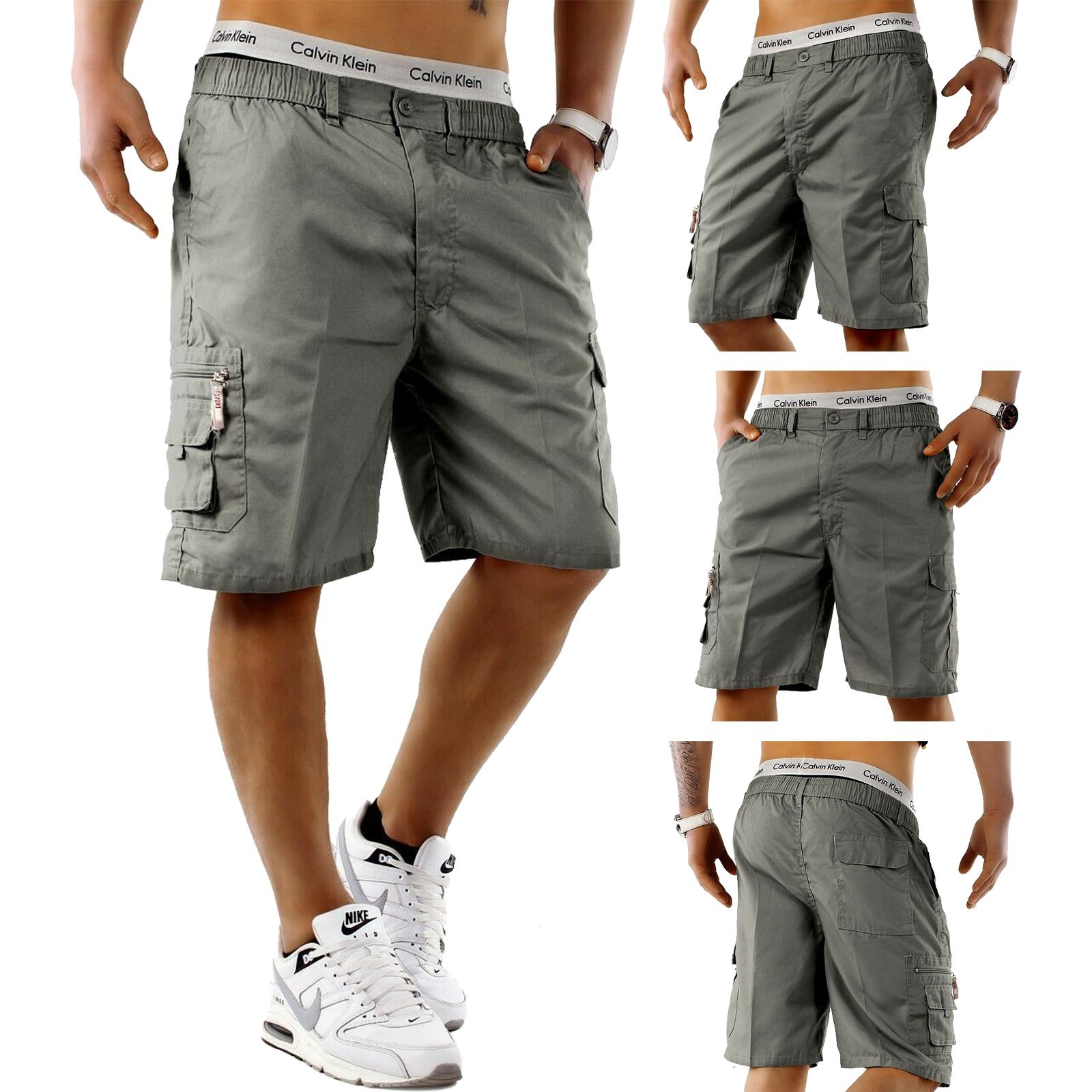 Mens-Cargo-Shorts-Elasticated-Waist-Casual-Cotton-Combat-Pants-M-L-XL-2XL-3XL thumbnail 4