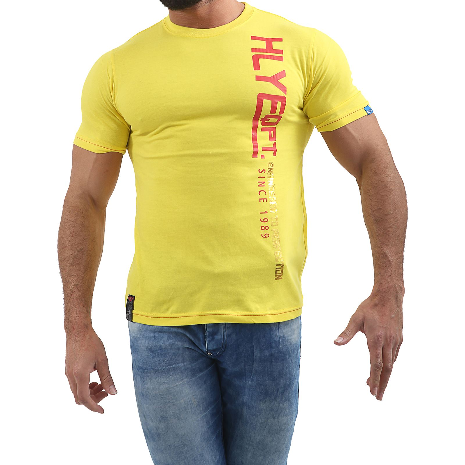 Mens-HLY-EQPT-Printed-T-Shirt-100-Cotton-Gym-Athletic-Training-Tee-Top-Summer thumbnail 16