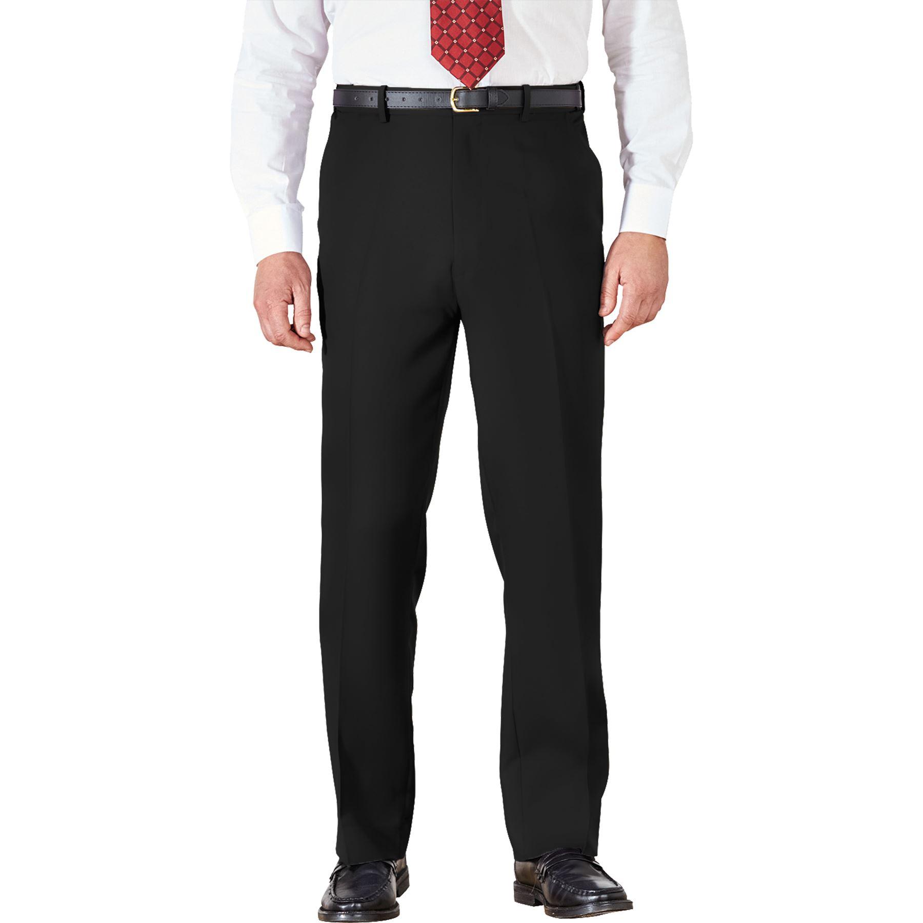 Para-Hombres-Pantalones-Regular-Fit-Straight-Chino-De-Algodon-Informales-Pantalones-de-trabajo miniatura 2