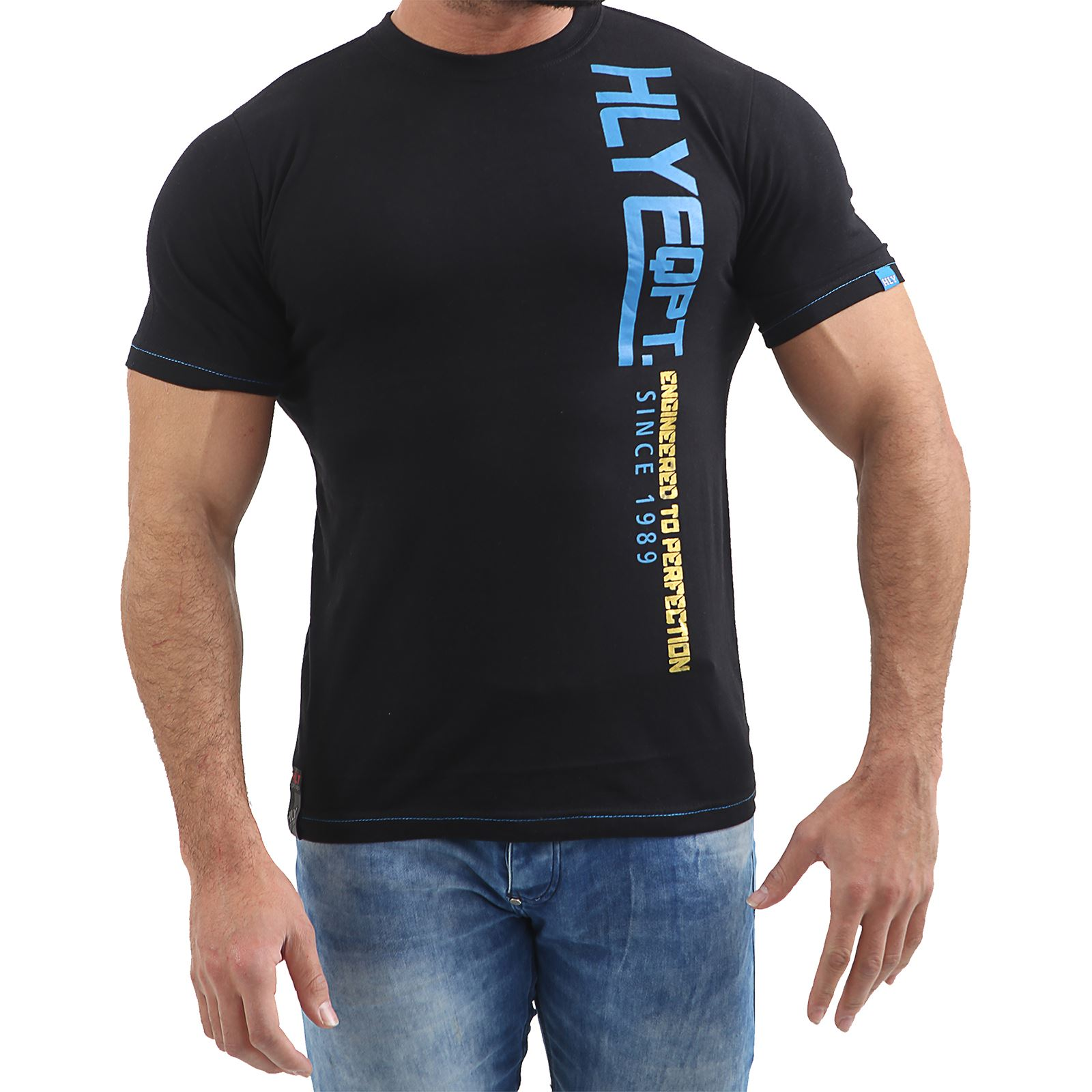 Mens-HLY-EQPT-Printed-T-Shirt-100-Cotton-Gym-Athletic-Training-Tee-Top-Summer thumbnail 3