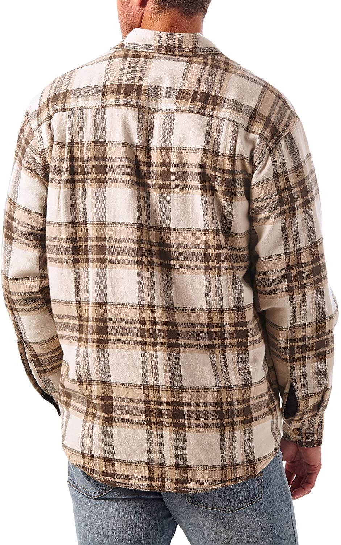 miniature 21 - Homme-Wrangler-Sherpa-Polaire-Double-Lumberjack-Rembourre-Veste-Chemise-Boutonnee