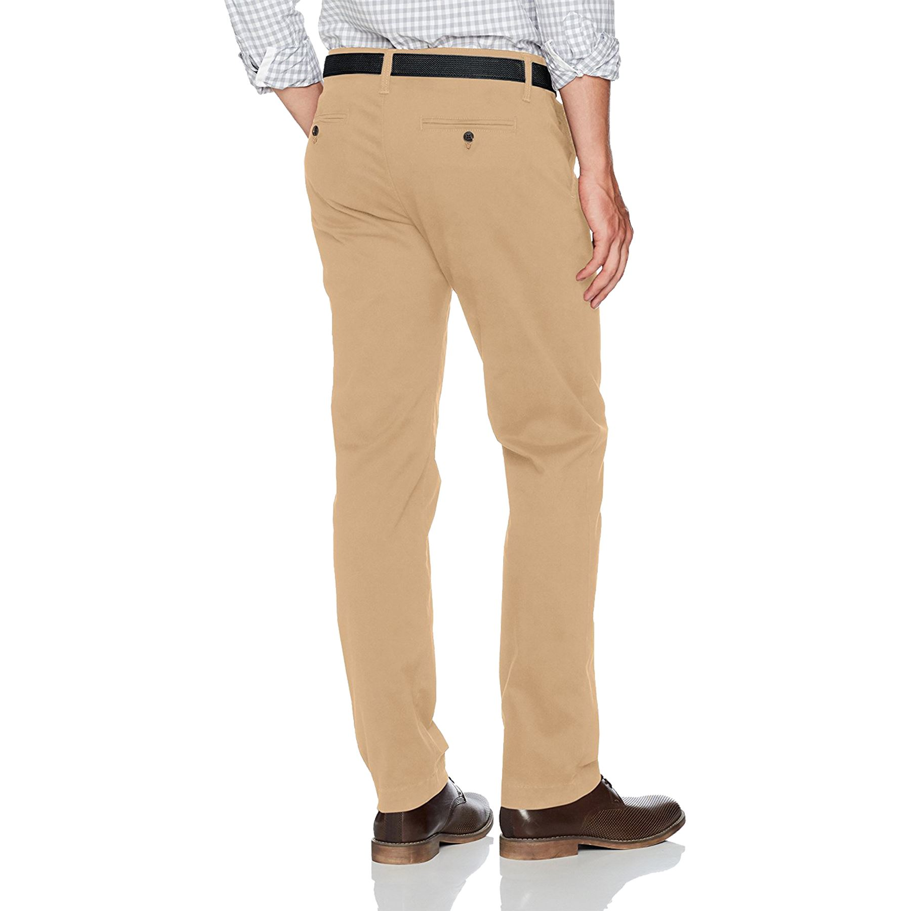 New-Mens-Ex-Store-Chino-Trousers-Regular-Fit-Straight-Cotton-Casual-Work-Pants thumbnail 3