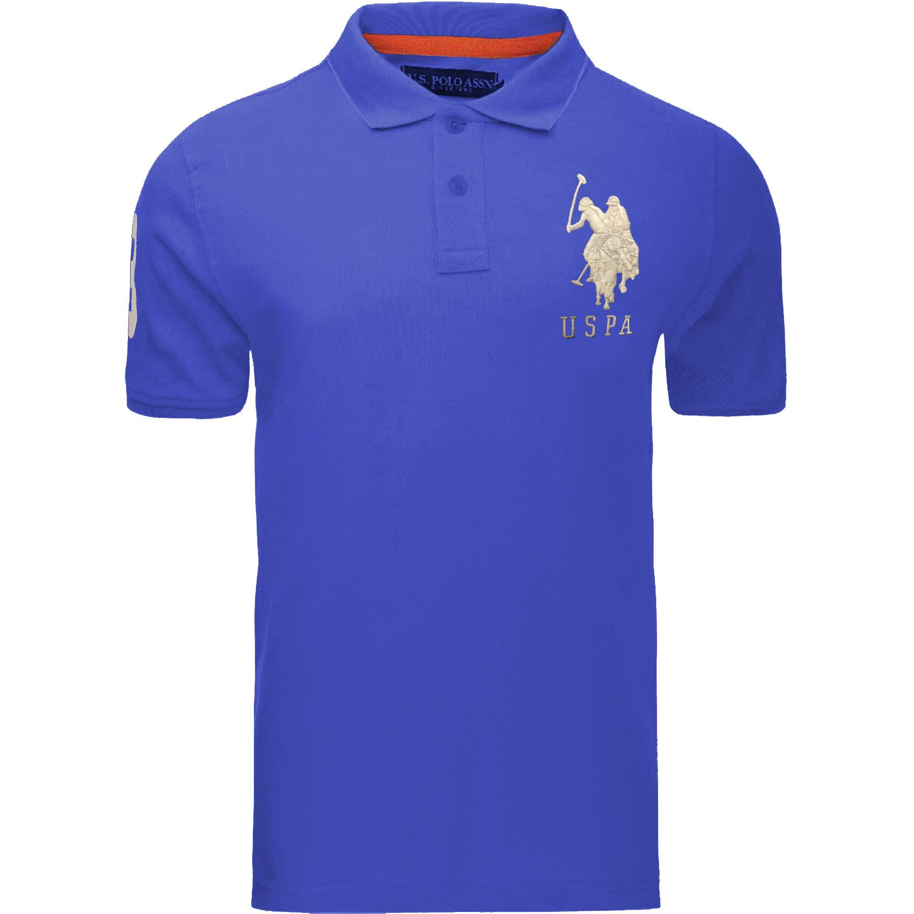 Nuevo-Para-Hombre-US-Polo-Assn-Pique-Camiseta-Camisa-Manga-Corta-Top-de-marca-100-algodon