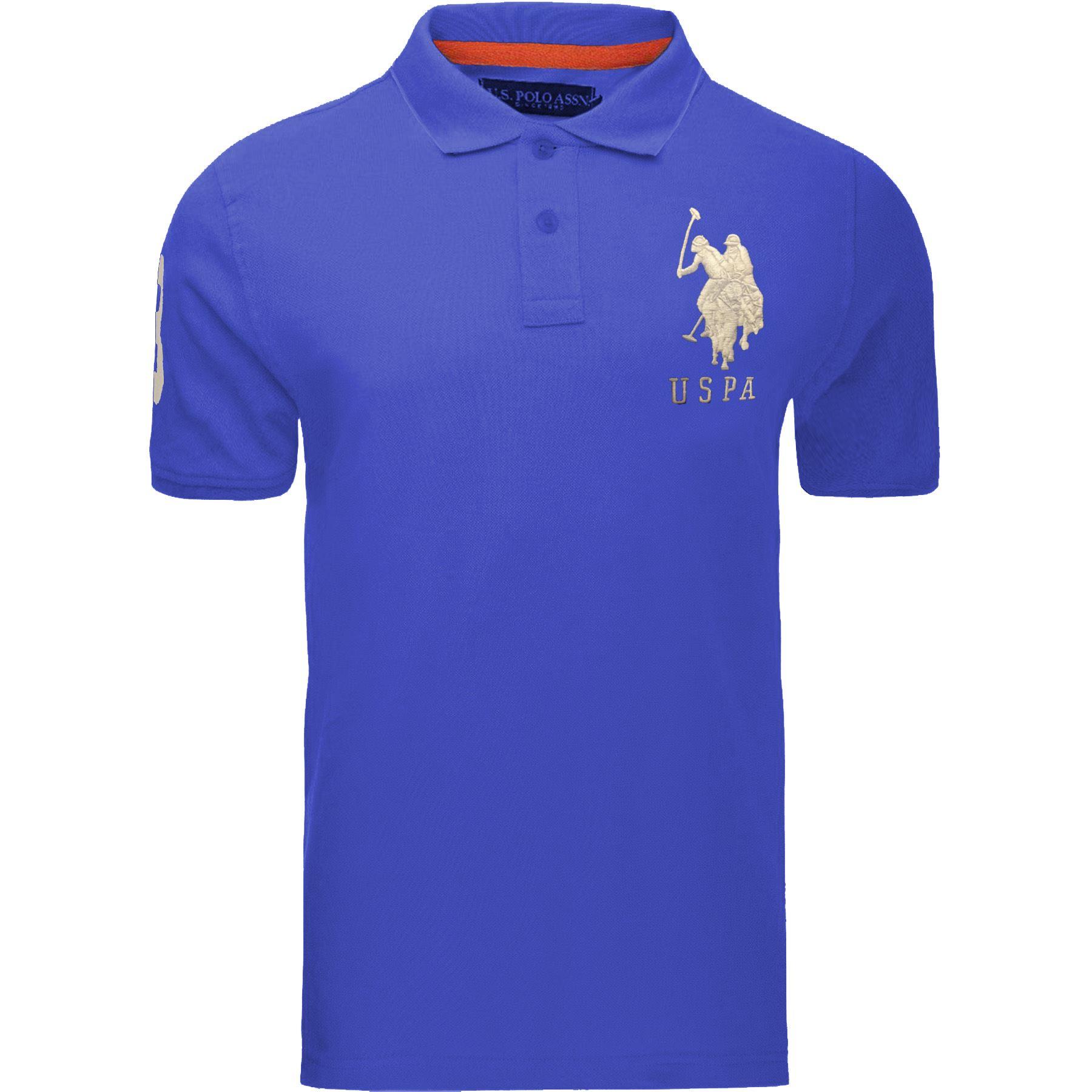 Camiseta-para-Hombre-US-Polo-Assn-Original-Pique-Polo-Custom-Fit-Camisa-Manga-Corta-Top