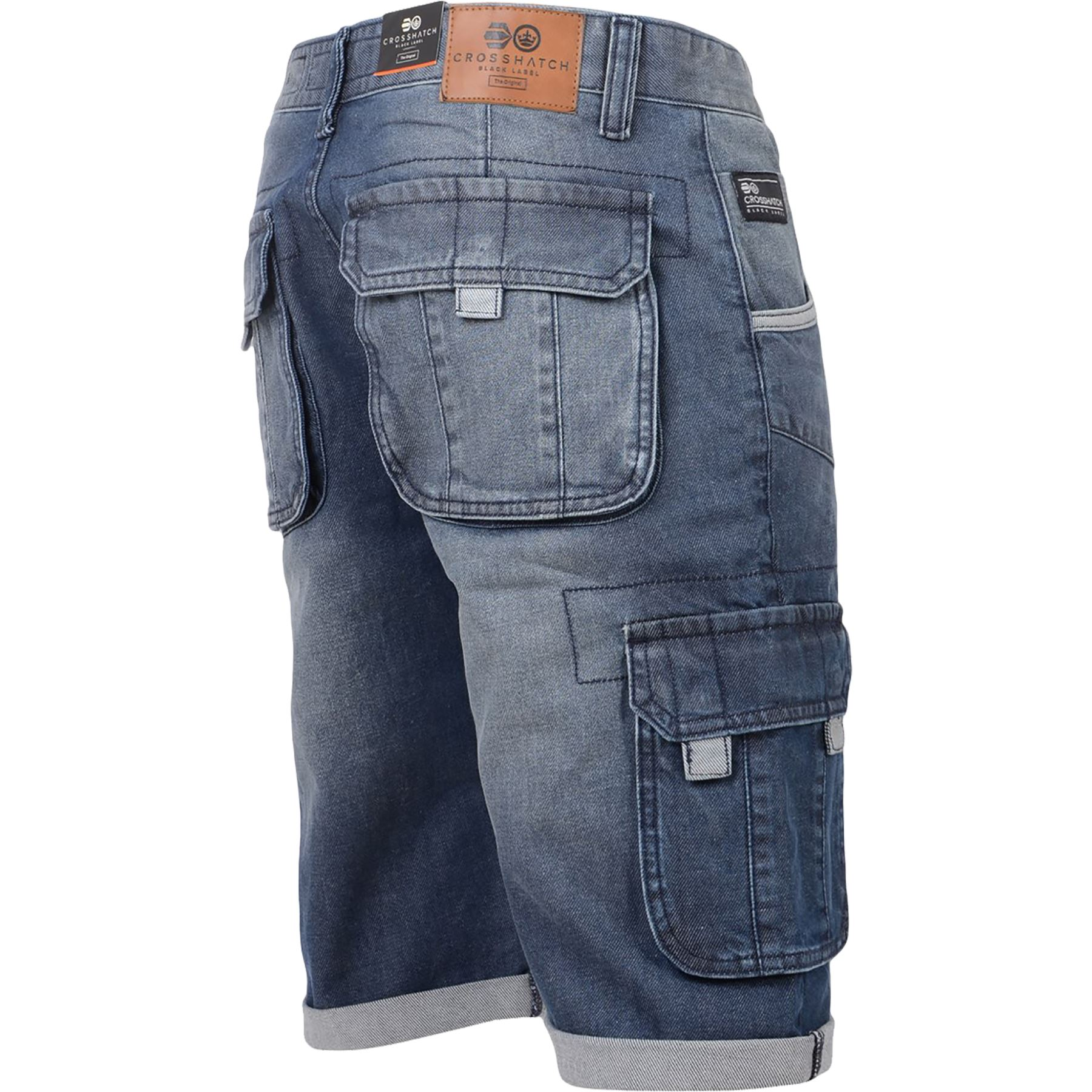 New-Mens-Crosshatch-Canvas-Cargo-Denim-Camo-Shorts-Chino-2019-Styles-30-42-034 thumbnail 14