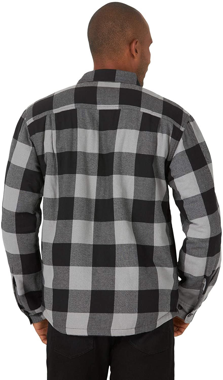 miniature 15 - Homme-Wrangler-Sherpa-Polaire-Double-Lumberjack-Rembourre-Veste-Chemise-Boutonnee