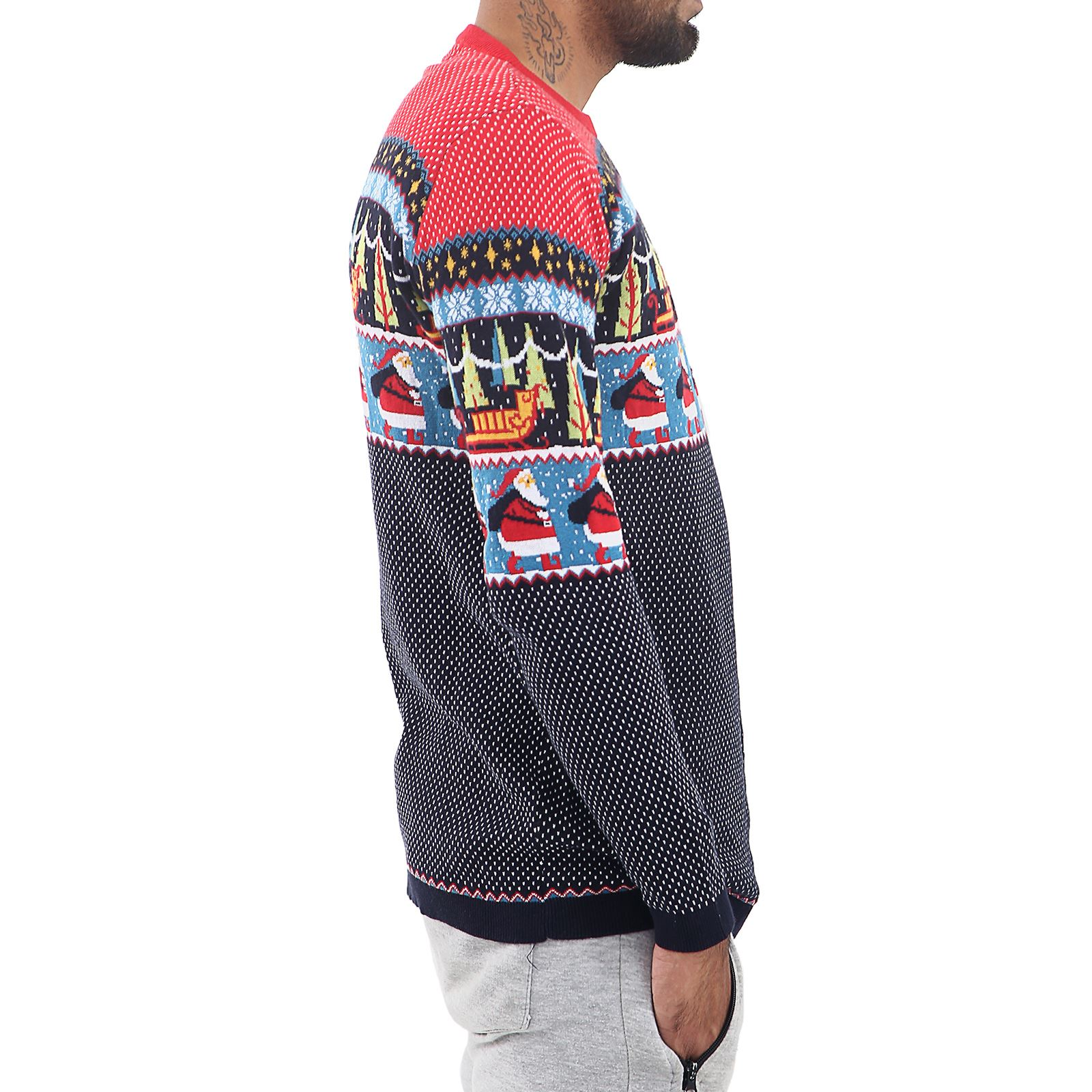 Mens-Ladies-Ex-Store-Matching-Christmas-Sweater-Jumper-Sweatshirt-Xmas-His-Hers thumbnail 3