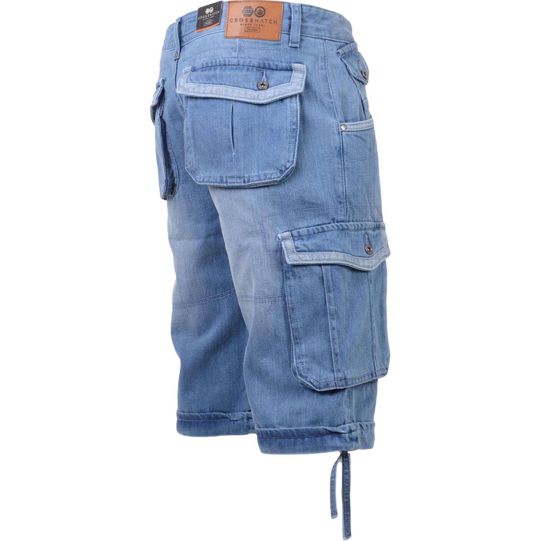 New-Mens-Crosshatch-Canvas-Cargo-Denim-Camo-Shorts-Chino-2019-Styles-30-42-034 thumbnail 31