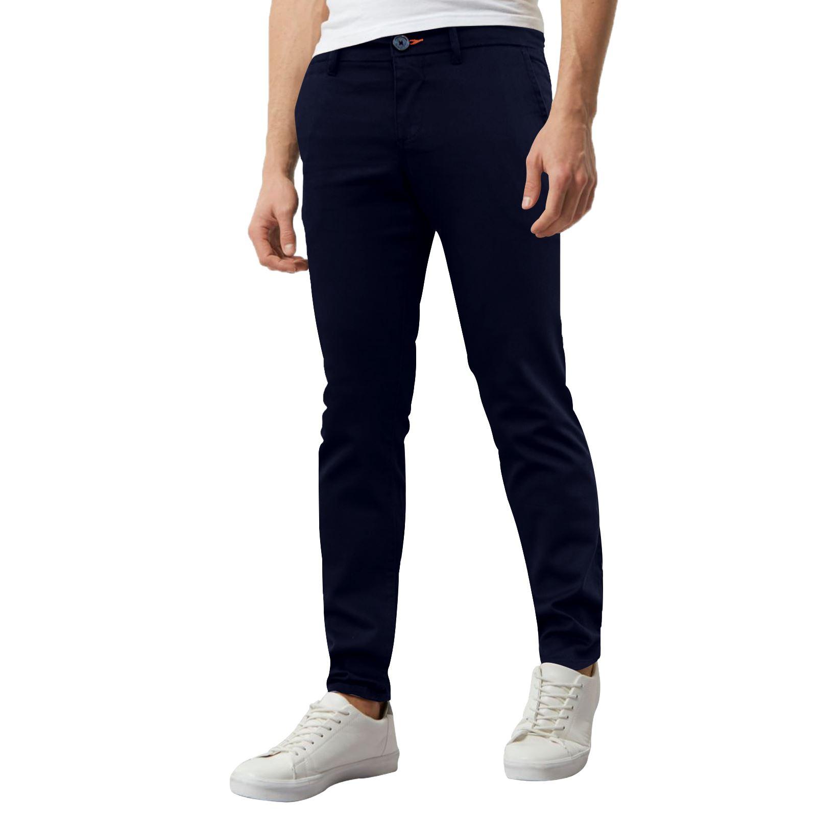 Jeans-Para-Hombre-de-Disenador-Nuevo-chinos-Elastizados-ajustados-Calce-Ajustado-Pantalones-todos miniatura 22