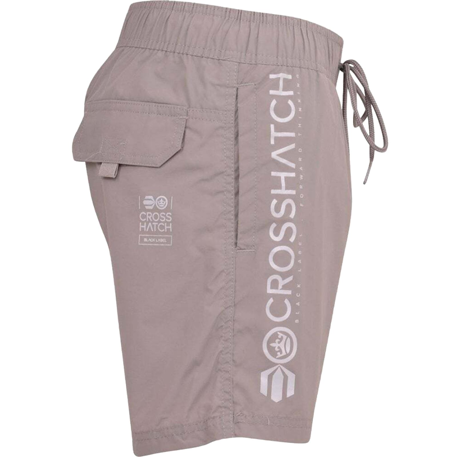 Mens-Crosshatch-Shorts-Drawcord-Mesh-Lined-Designer-Beach-Casual-Swimming-Trunks thumbnail 11