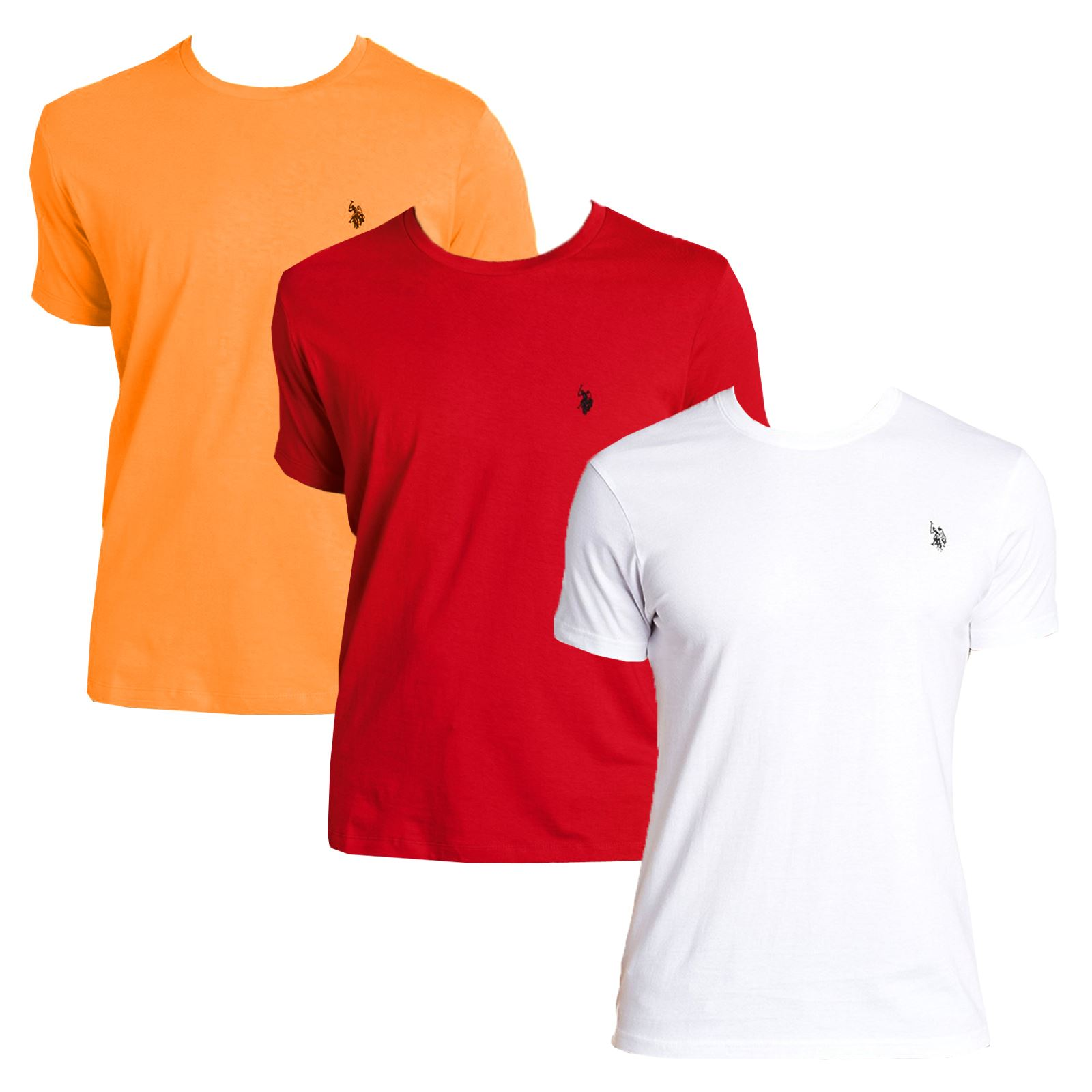Mens 3 pack us polo assn short sleeve summer tshirt for Us polo shirts for mens