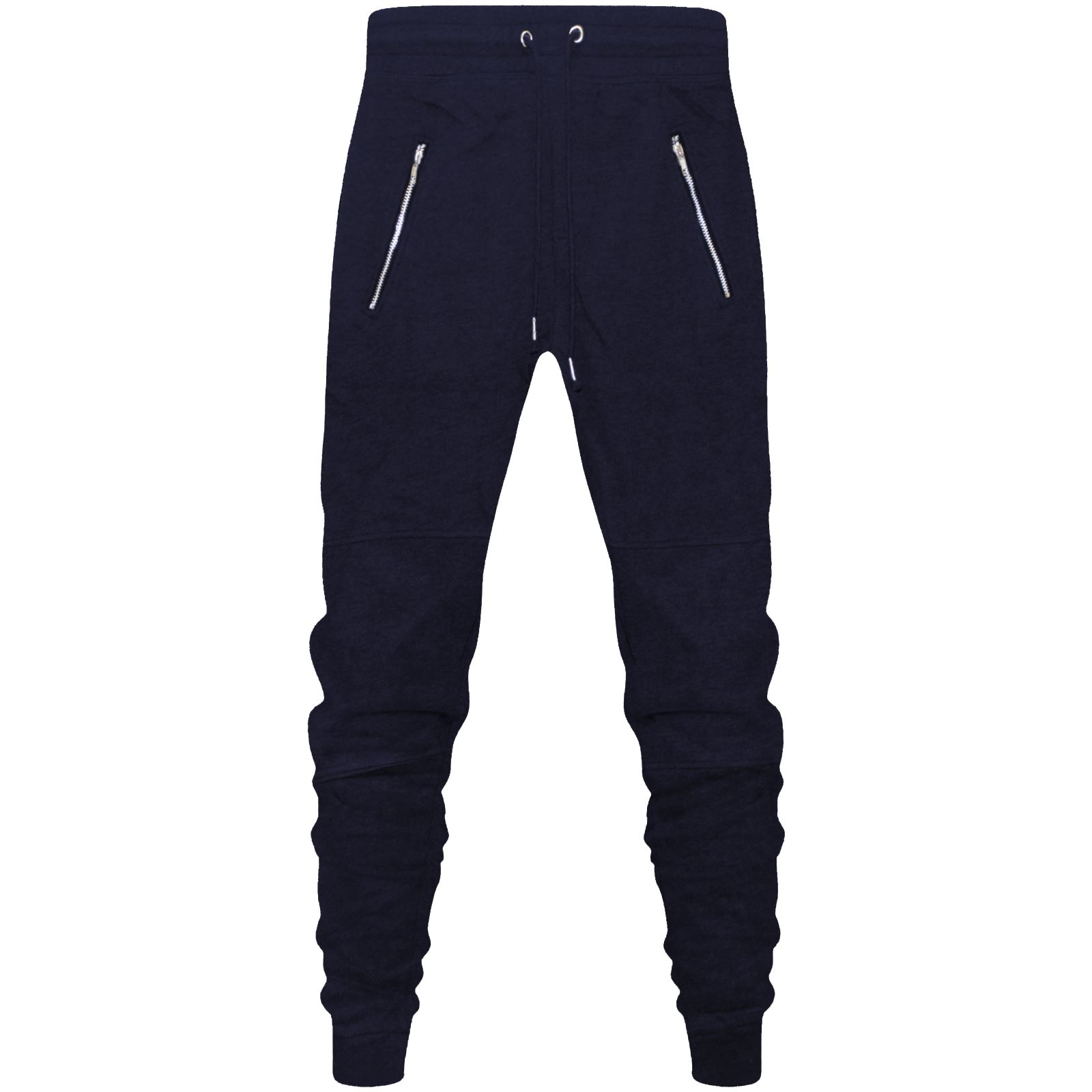 b506df12 New Mens Skinny Slim Fit Joggers Jogging Bottom Fleece Gym Pants Zip ...