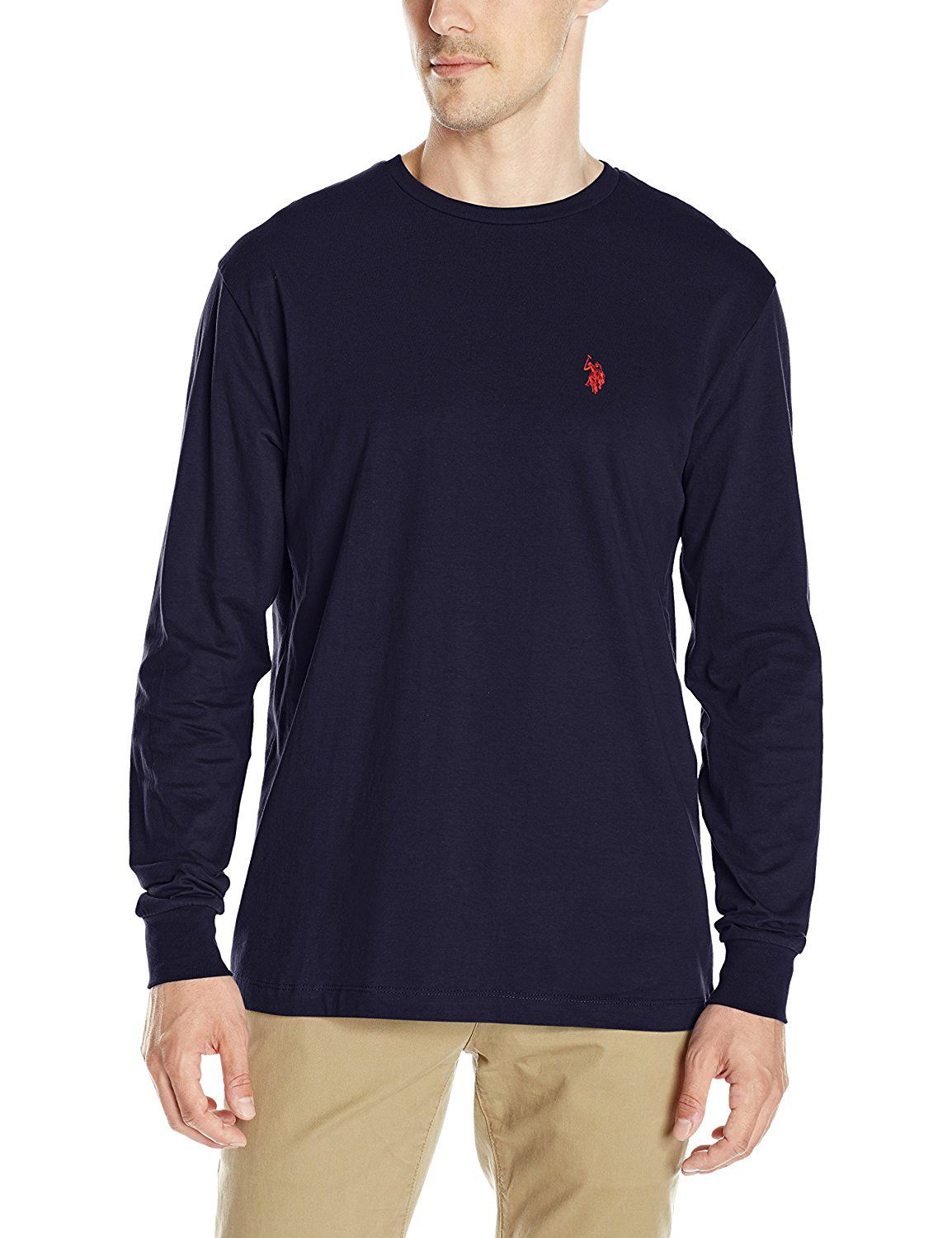 mens us polo assn polo men 39 s crew neck t shirt long sleeve